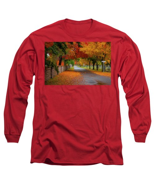 Fall In The Cemetery Long Sleeve T-Shirt
