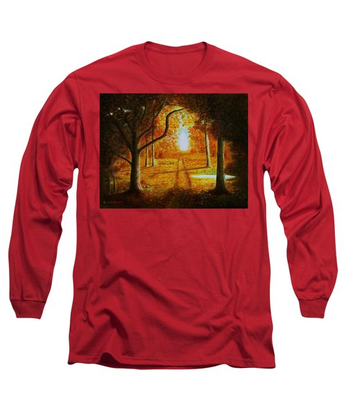 Fall In The Woods Long Sleeve T-Shirt by Gene Gregory
