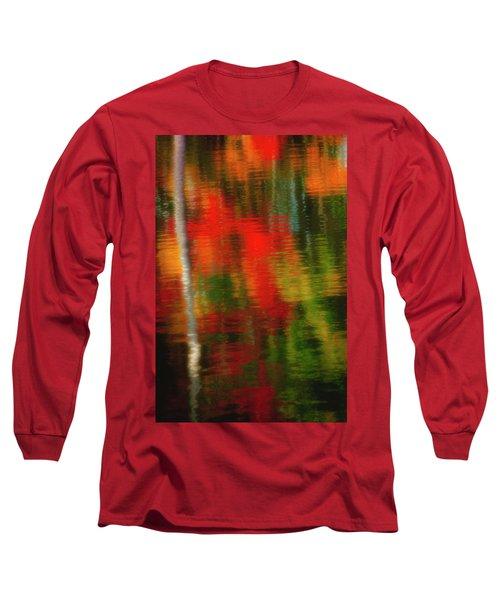 Fall Reflections Long Sleeve T-Shirt by David Cote