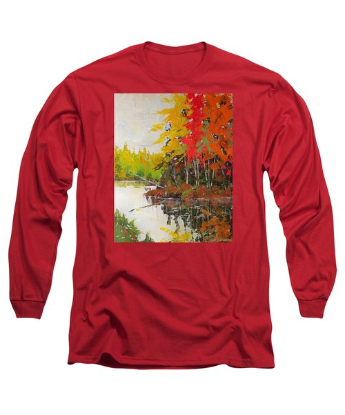 Fall Scene Long Sleeve T-Shirt by David Gilmore