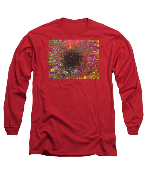 Long Sleeve T-Shirt featuring the painting Falling by Jacqueline Athmann