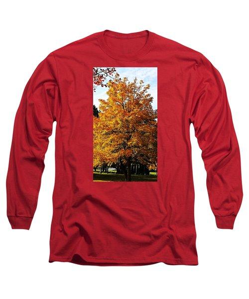 Fallish Yellowish Long Sleeve T-Shirt by Jana E Provenzano