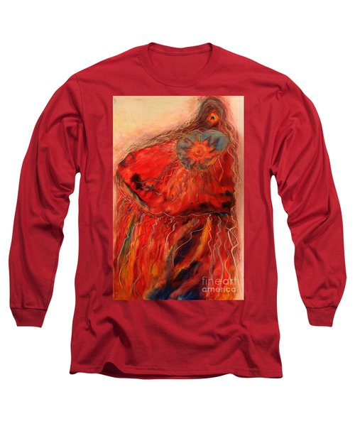 Long Sleeve T-Shirt featuring the painting Fancy Shawl Dancer by FeatherStone Studio Julie A Miller