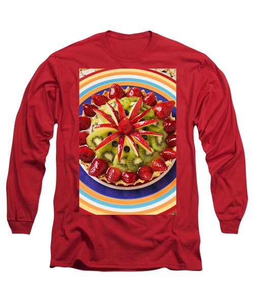 Fancy Tart Pie Long Sleeve T-Shirt by Garry Gay