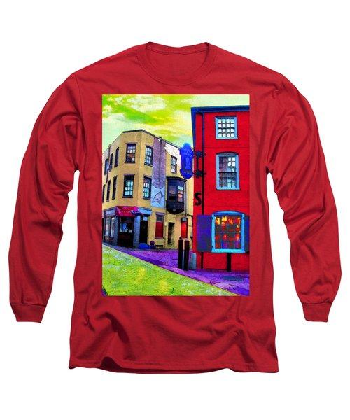 Faux Fauve Cityscape Long Sleeve T-Shirt