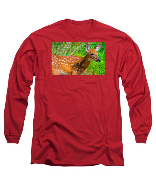 Fawn 4 Long Sleeve T-Shirt by Brian Stevens