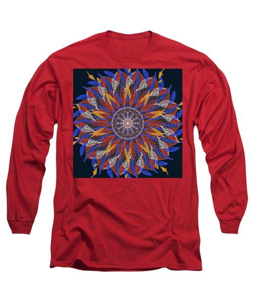 Feather Mandala Iv Long Sleeve T-Shirt