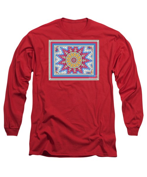 Long Sleeve T-Shirt featuring the photograph Feathered Star Quilt by Shirley Moravec
