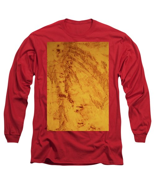 Feathers On The Wind Long Sleeve T-Shirt by Cynthia Powell