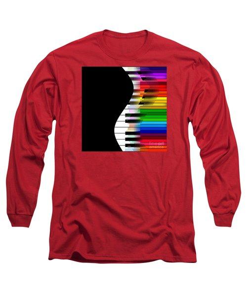 Long Sleeve T-Shirt featuring the digital art Feel The Music by Klara Acel
