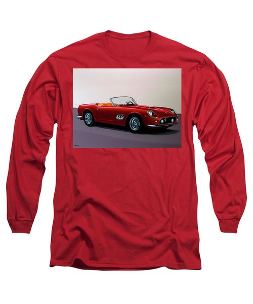 Ferrari 250 Gt California Spyder 1957 Painting Long Sleeve T-Shirt