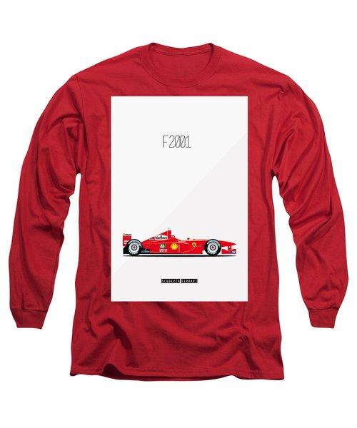Ferrari F2001 F1 Poster Long Sleeve T-Shirt