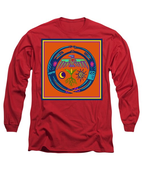 Long Sleeve T-Shirt featuring the digital art Fertility Dance by Vagabond Folk Art - Virginia Vivier