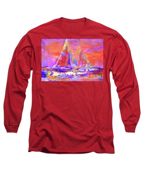 Festive Sailboats 11-28-16 Long Sleeve T-Shirt