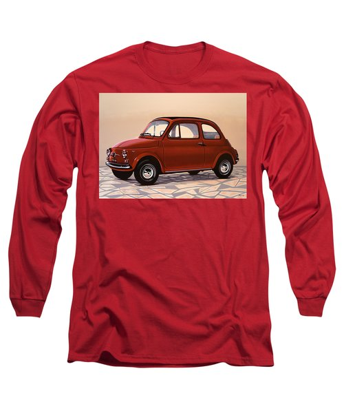 Fiat 500 1957 Painting Long Sleeve T-Shirt