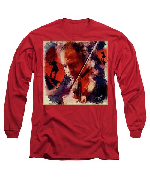 Long Sleeve T-Shirt featuring the painting Fiddler by Ted Azriel