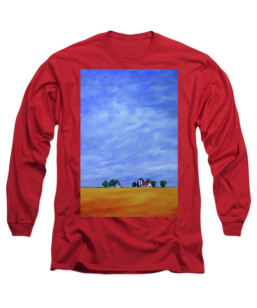 Long Sleeve T-Shirt featuring the painting Fields Of Gold by Jo Appleby