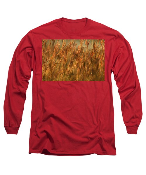 Long Sleeve T-Shirt featuring the photograph Fields Of Golden Grains by Emanuel Tanjala