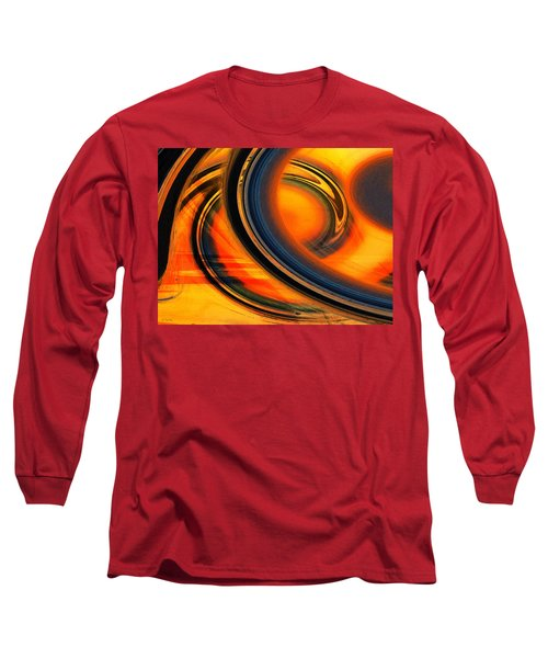 Long Sleeve T-Shirt featuring the photograph Fiery Celestial Rings  by Shawna Rowe