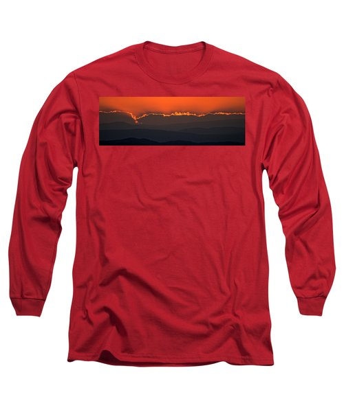 Fiery Sunset In The Luberon Long Sleeve T-Shirt
