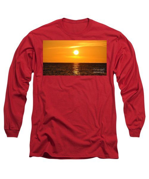 Long Sleeve T-Shirt featuring the photograph Fiery Sunset by John Black