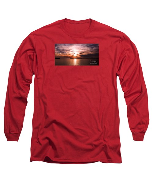 Fiery Tranquility  Long Sleeve T-Shirt by Rebecca Davis