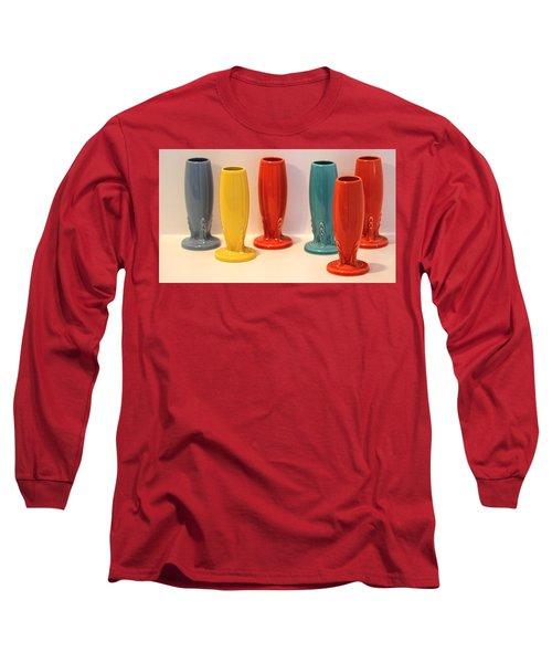 Fiestaware Bud Vases Long Sleeve T-Shirt