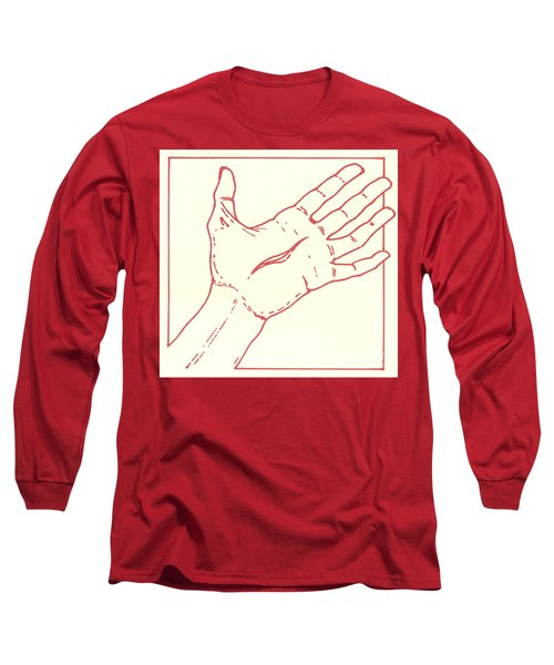 Long Sleeve T-Shirt featuring the drawing Fifteenth Station- Jesus Rises From The Dead by William Hart McNichols