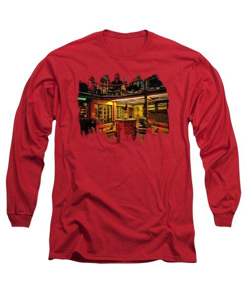 Fifth Street Public Market Long Sleeve T-Shirt by Thom Zehrfeld