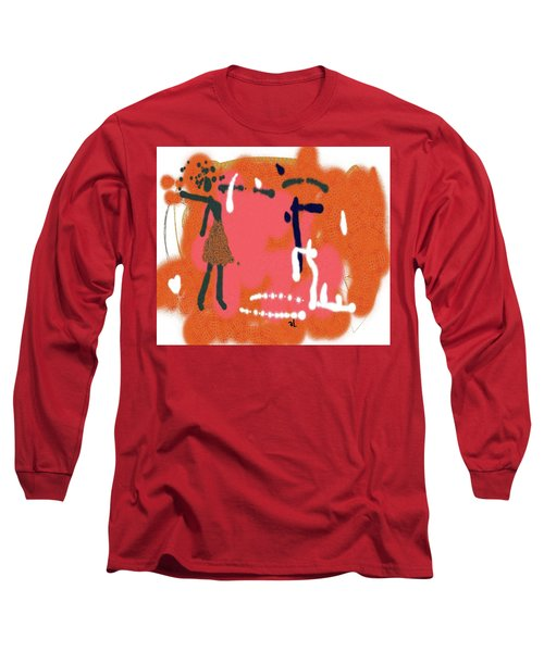Long Sleeve T-Shirt featuring the digital art Fight by Sladjana Lazarevic