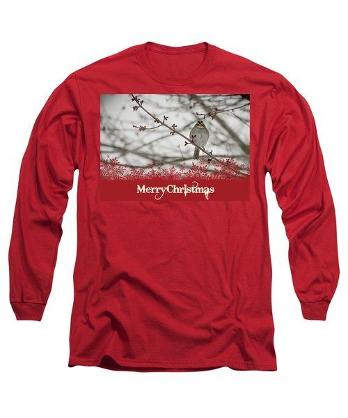 Finch Christmas Long Sleeve T-Shirt by Trish Tritz