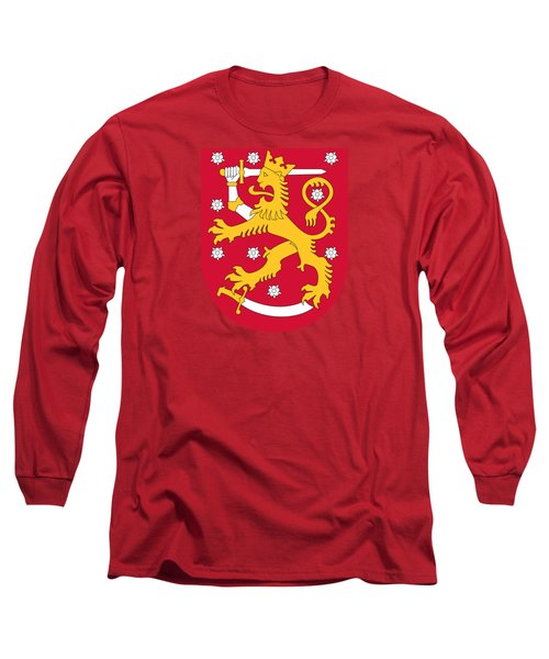 Finland Coat Of Arms Long Sleeve T-Shirt by Movie Poster Prints