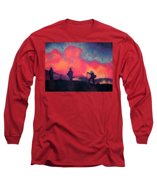 Fire Crew Long Sleeve T-Shirt by Joshua Morton