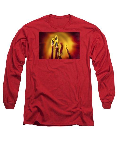 Fire Dancers Long Sleeve T-Shirt by Christina Lihani