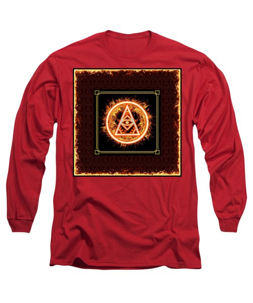 Long Sleeve T-Shirt featuring the digital art Fire Emblem Sigil by Shawn Dall