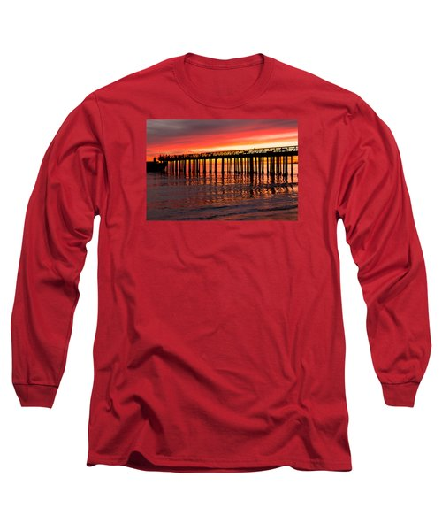 Long Sleeve T-Shirt featuring the photograph Fire In The Sky by Lora Lee Chapman
