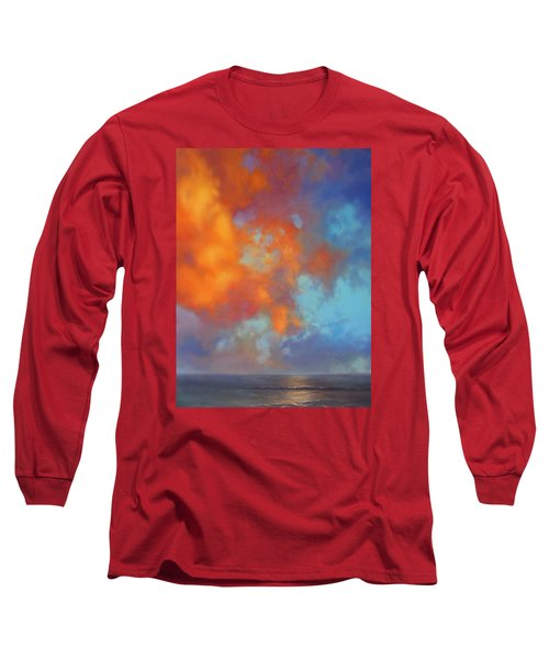 Fire In The Sky Long Sleeve T-Shirt by Vivien Rhyan