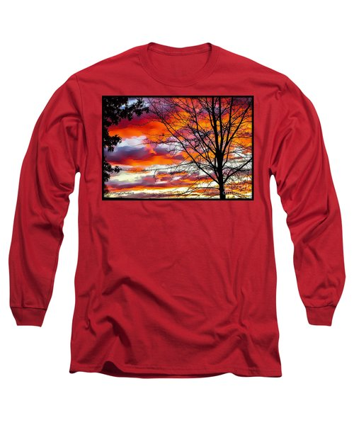 Fire Inthe Sky Long Sleeve T-Shirt by MaryLee Parker
