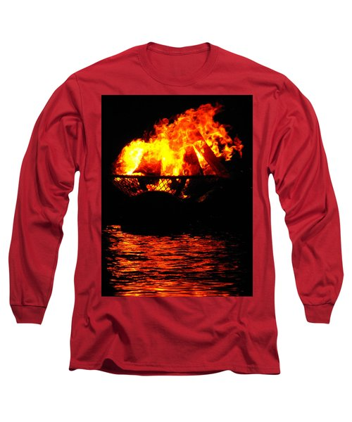 Fire Water Illuminates The Night Long Sleeve T-Shirt