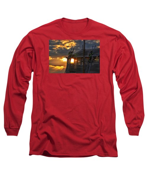 Long Sleeve T-Shirt featuring the photograph Firefighters In Training by Nikki McInnes