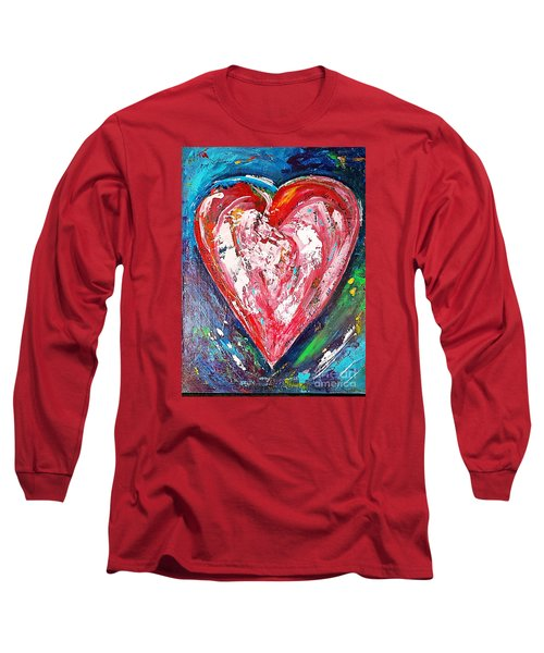 Long Sleeve T-Shirt featuring the painting Fireworks by Diana Bursztein