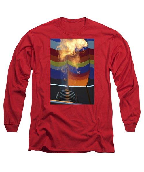 Firing Up Long Sleeve T-Shirt by Linda Geiger