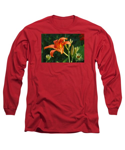 Long Sleeve T-Shirt featuring the photograph First Flower On This Lily Plant by Steve Augustin