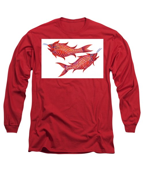 Fish Pisces Long Sleeve T-Shirt by Jane Tattersfield