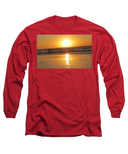 Fisherman At Sunrise Long Sleeve T-Shirt