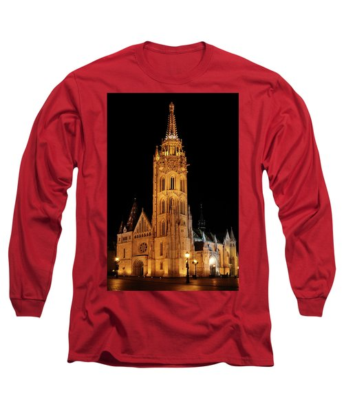 Long Sleeve T-Shirt featuring the digital art  Fishermans Bastion - Budapest by Pat Speirs