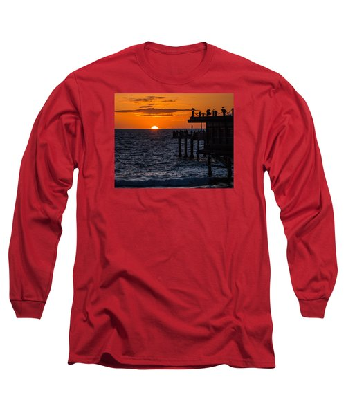 Fishing At Twilight Long Sleeve T-Shirt by Ed Clark