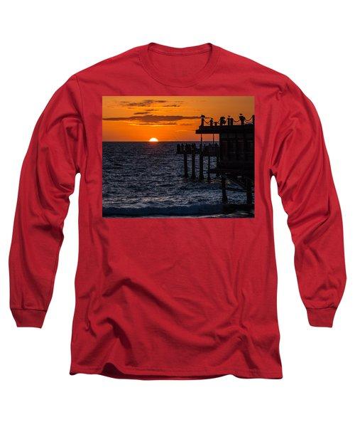 Fishing At Twilight Long Sleeve T-Shirt