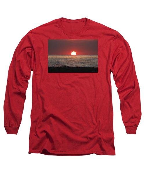 Fishing Boat Sunrise Long Sleeve T-Shirt by Robert Banach