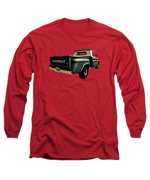 Five-six Chevy Pickup And The Golden Sky Long Sleeve T-Shirt